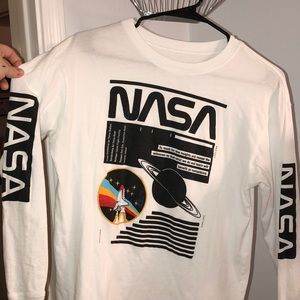 white NASA long sleeve